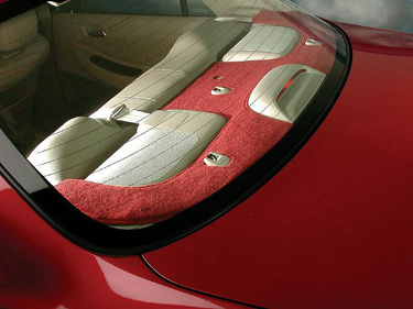 Custom Tailored Rear Deck Covers Designer Velour for  Volkswagen