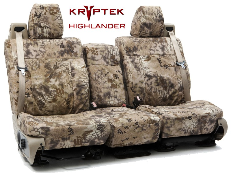 Custom Seat Covers Kryptek Camo for 2007 Toyota Corolla Sedan